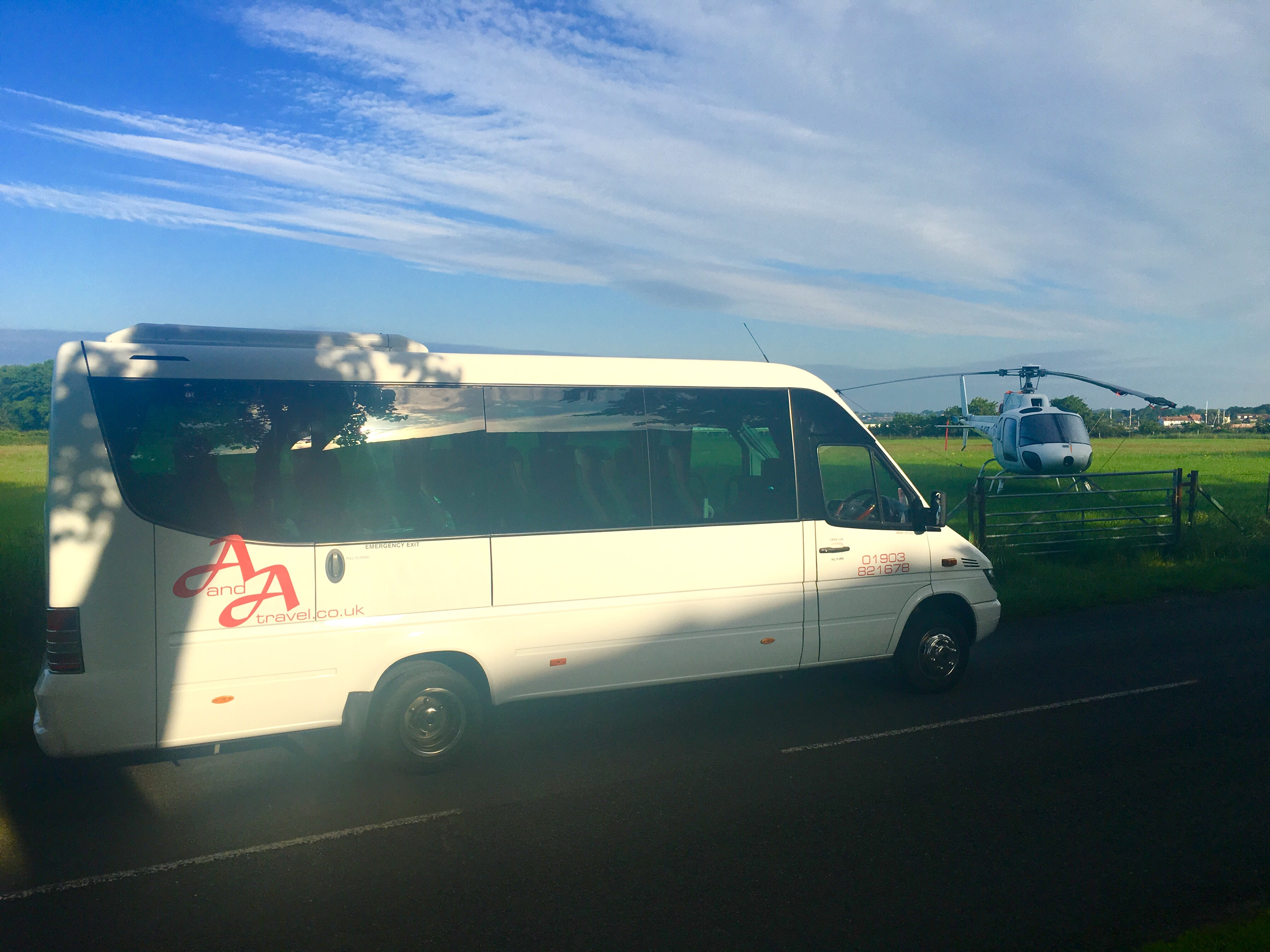 Chichester minibus hire at Goodwood